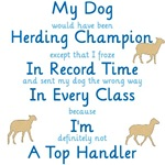 Herding Top Handler shirts and mugs